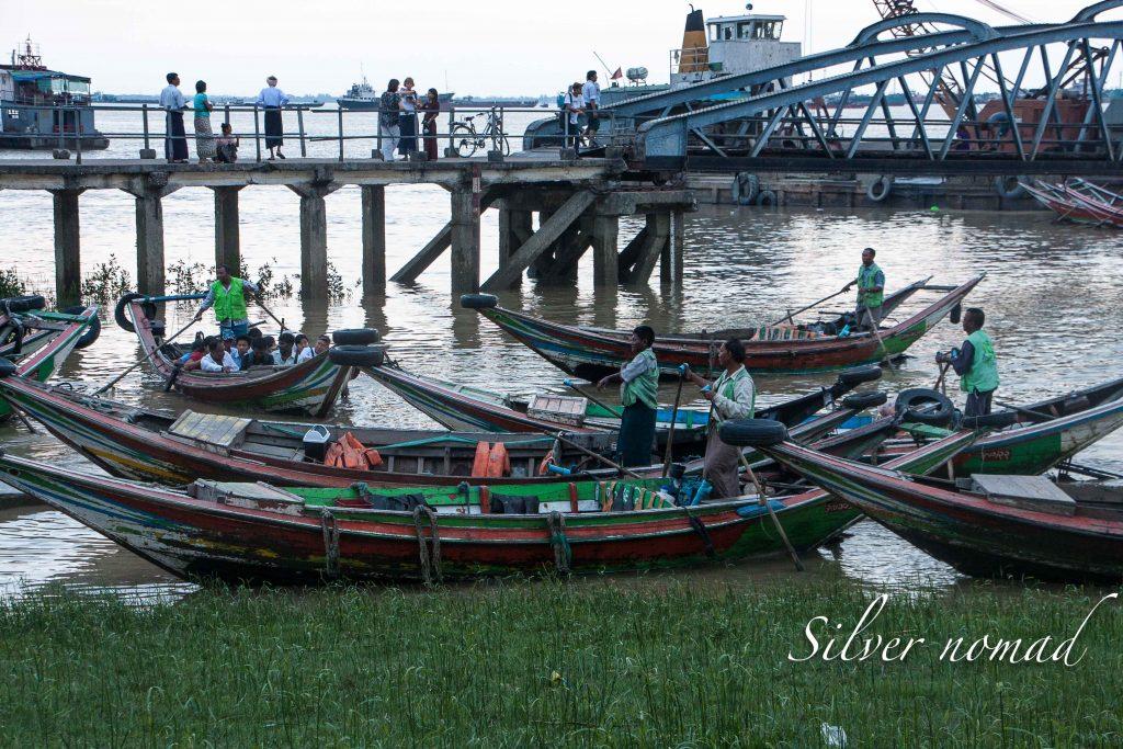 Boatmen on the Yangon River