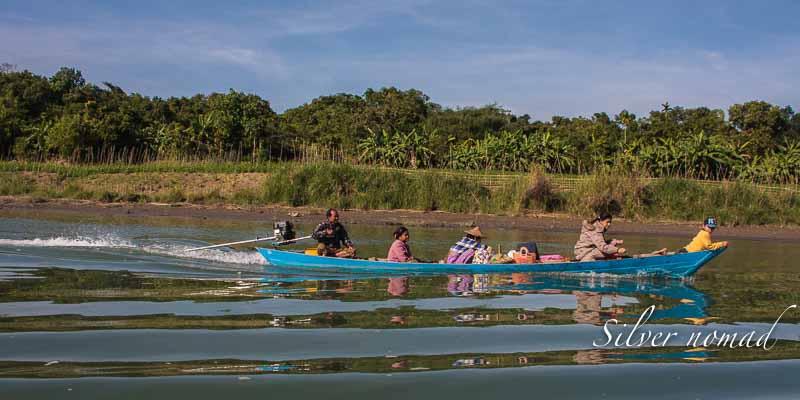 Boat with diesel motor